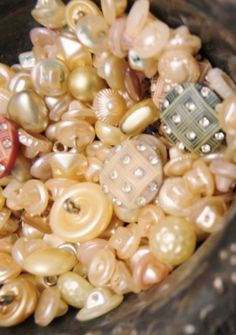 Pearly Vintage Buttons