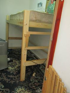 how to build a loft bed diy tutorial and plans space efficient and frugal - Dorm Bed Frame