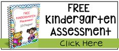 Kindergarten Assessment it's FREE! 13 pages to test Kindergarten readiness!