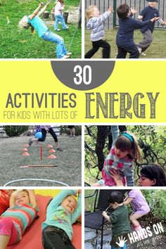 Yes! 30 gross motor activities for kids with LOTS of energy!