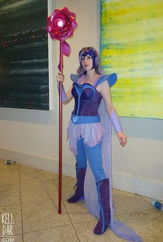 My Glimmer (She-Ra Princess of Power) costume from Dragoncon 2013. // Construction info and more cosplay photos at kelldar.com