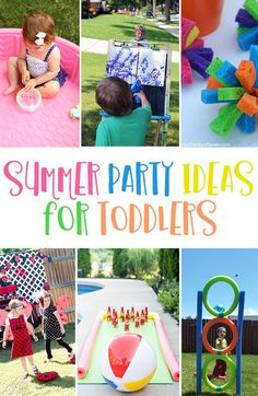Entertain your little ones with these Summer Party Games For Toddlers! Perfect f… Entertain your little ones with these Summer Party Games For Toddlers! Perfect for toddler birthday parties, end of school parties and family reunions. Summer Party Games, Backyard Party Games, Backyard Birthday Parties, Toddler Party Games, Outdoor Party Games, Outdoor Birthday, Summer Fun, Outdoor Games For Toddlers, Games For Little Kids