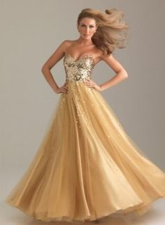 light gold wedding dress