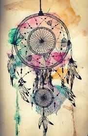Dream catcher.. i really like this one. without the water color though.