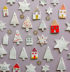 Try these Easy DIY Clay Decorations! Holiday Crafts For Kids, Kids Christmas, Christmas Crafts, Christmas Ornaments, Clay Christmas Decorations, Handmade Decorations, Holiday Decor, Diy Craft Projects, Diy And Crafts