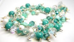 Spring right in to style with this gorgeous Mint dangle bracelet by the fabulous Jennifer of  #TBTBracelet, $45.00