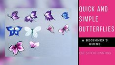 Quick and easy Butterflies | acrylic painting | Beginners painting ideas | Diy - YouTube