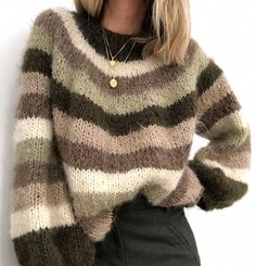 Winter Sweaters, Sweater Weather, Casual Sweaters, Oversized Sweaters, Knit Sweaters, Knitting Kits, Knitting Patterns, Sweater Shop, Cardigans For Women