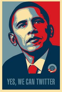 En esta imagen funde el lema de la campaña y la red social Twitter.