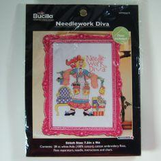 Cross Stitch Kit Needlework Diva Alma Lynne Originals Bucilla WM45619 #Bucilla
