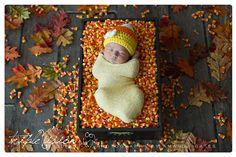 Girl candy corn hat. Crochet candy corn by TrebleStitchBoutique, $18.00