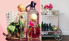 If you decide to use your bar cart for a drink buffet – indulge and display your prettiest bottles and containers for beverages, lemons, limes and fancy garnishes.  Don't forget to supply your guests with a decorative straw for classy sipping.  However, most importantly, include a beautiful flower arrangement on your bar cart.  Fresh flowers make everything better.  So, go ahead, find any excuse you can to celebrate!  A great bar cart can make a party happen in any room.  Cheers!
