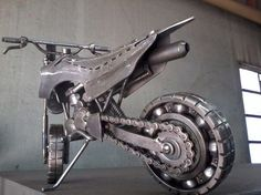 Discover thousands of images about Metal Motorcycle Sculpture Street Chopper Rider Welding Art Projects, Metal Art Projects, Metal Crafts, Metal Tree Wall Art, Scrap Metal Art, Metal Artwork, Miniatur Motor, Sculpture Metal, Mechanical Art