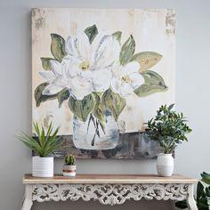 Magnolia Bloom Canvas Art Print | Kirklands