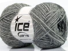 Fiber Content 50% Acrylic 25% Merino Wool 25% Alpaca Brand Ice Yarns Grey fnt2-45320