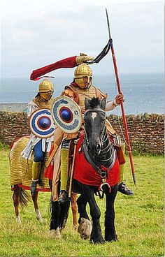 late roman cavalry in britain and the probable troops commanded by Ambrosius Aurelianus. It is likely Ambrosius led the 'Roman' faction following Britannia's secession from the Empire , consisting of imperial veterans, military refugees from Gaul and locally recruited Celts. Ambrosius led the fight back against Saxon and Scottish incursions and could well have been behind the British appeal to Aetius to reincorporate the province into the Western empire.