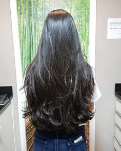Haircuts For Long Hair With Layers, Haircuts Straight Hair, Long Hair Cuts, Long Hair Styles, Straight Layered Hair, Beautiful Long Hair, Gorgeous Hair, Long Hair Highlights, Silky Smooth Hair