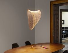 Eco-sustainable LED lamp in certified wood: Illan by Luceplan Flexible Plywood, Laser Cut Plywood, Indirect Lighting, Light Building, Acoustic Panels, Diffused Light, Lighting Solutions, Led Lamp, Lamps