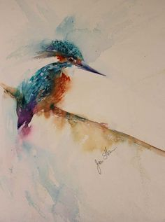 The Magic of Watercolour Painting Virtual Gallery - Jean Haines, Artist - Christmas Exhibitions 2013 Watercolor Hummingbird, Watercolor Bird, Watercolor Animals, Wildlife Paintings, Animal Paintings, Watercolor Paintings For Beginners, Watercolour Paintings, Watercolours, Virtual Art