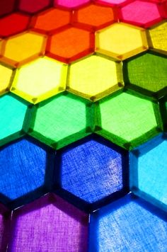 RAINBOW hexagon fabric color _____________________________ Reposted by Dr. Veronica Lee, DNP (Depew/Buffalo, NY, US)