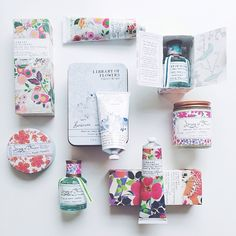 Library of Flowers Packaging