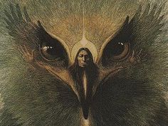 starsrising via cosmic-dust The soul of the shaman in the body of an eagle or hawk.