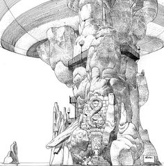 Drawings by Moebius (Jean Giraud) Title: William...