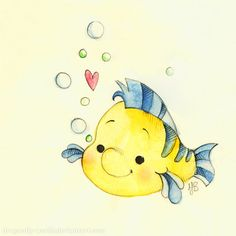 Flounder by dragonfly-world on deviantart. flounder by dragonfly-world on deviantart disney fan art Disney Nerd, Arte Disney, Disney Fan Art, Disney Magic, Disney Movies, Disney Stuff, Disney Drawings, Cute Drawings, Disney And Dreamworks