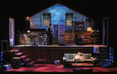 A Little More Alive. Kansas City Repertory Theatre. Scenic design by Wilson Chin. Lighting by Cory Pattak. 2014