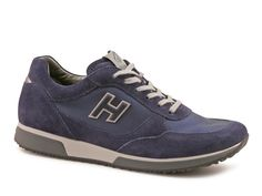 Hogan men's sneakers in blue suede leather and fabric - Italian Boutique €193