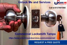 Unlock Me and Services offers Safe & Secure Commercial & Residential Solution in Tampa, Its a Verified and Certified Locksmith Company in Tampa With More than 10 years experience in Locksmith Profession.we offer commercial locksmith, residential locksmith, emergency locksmith, 24 hour locksmith, 24 hour locksmith, car key replacement services. we offer 24 hours expert locksmith services. Contact Us at 8137601066 for More.