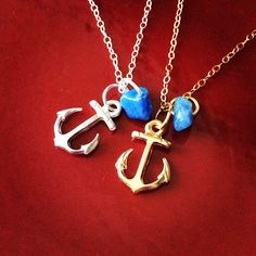 Anchor Necklaces via nauticalwheeler's photo on Instagram