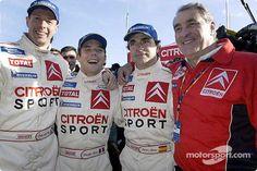 2003 MONTE CARLO RALLY - Citroen 1st/2nd/3rd. Sebastien Loeb/Colin McRae/Carlos Sainz.