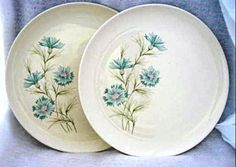 2 Taylor Smith Taylor Boutonniere  Dinner Plates | VintageJunque - Ceramics & Pottery on ArtFire