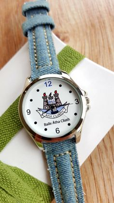 Minimalist Watch with Dublin City Logo, Blue Denim Strap, Irish Watch, GAA Watch, Unisex Watch, Handmade Watch, Unique Gift, Keepsake Watch. by IrishFashionWatches on Etsy City Logo, Dublin City, Unique Gifts, Handmade Gifts, Blue Denim, Irish, Minimalist, Unisex, Watches