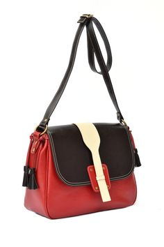 Messenger Leather Handmade Bag Long Strap Leather by CORYSBAGS