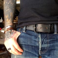 ewingdrygoods:  Navy Minimalist Belt after 5 months of almost everyday wear.
