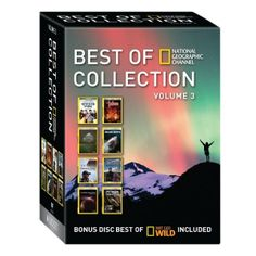 Best of National Geographic Channel Collection, Volume 3 - 6 DVD Set. The Best of National Geographic Collection, Volume 3, 6-DVD Set makes a perfect gift and  a great sampler of some of National Geographic's best current series and specials.  Volume 3 includes great shows and specials, such as Wicked Tuna, Doomsday Preppers, World's Biggest Cave, Taboo, Border Wars, and Known Universe.  A National Geographic WILD bonus disc features Killer Shots: Great White Ambush and Python Hunters Season…
