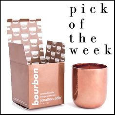 Jonathan Adler's bourbon scented candle is the warmest and coziest scent you could ever dream of. You will want this rich smelling candle permeating your home during these chilly autumn nights. Plus, the beautiful copper toned casing will look great with the rest of your fall decor.
