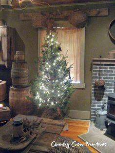 Christmas Open House Part 2 Cowboy Christmas, Prim Christmas, Country Christmas, Simple Christmas, All Things Christmas, Winter Christmas, Christmas Time, Vintage Christmas, Christmas Lights