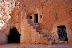 SuperStock - Tunisia, Matmata, Troglodyte house courtyard