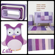 This is from the Danish Sebra collection, think it is a cool color scheme in different purple tones.