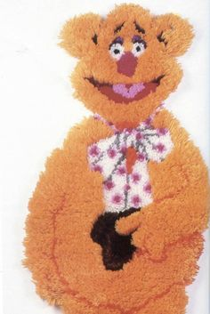 Hey, I found this really awesome Etsy listing at https://www.etsy.com/listing/180712207/fozzie-bear-muppets-latch-hook-rug