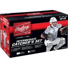 Rawlings Adult Velo Catcher Set White/Silver in Sporting Goods, Team Sports, Baseball & Softball Youth Age, Softball Catcher, Batting Gloves, Thing 1, Scarlet, Navy And White, Baseball Cards, Sports, Ebay