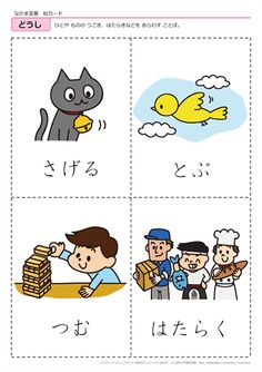 Japanese Phrases, Japanese Words, Japanese Language Lessons, Around The World Theme, Japanese Travel, Hiragana, Japanese Poster, Cute Funny Animals, Cards