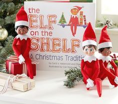"""The Elf on the Shelf(R) has captured the hearts of children everywhere who have embraced the magic of adopting their very own scout elf from the North Pole. Each Christmas season, the elf works as Santa's eyes and ears, traveling back to the North Pole each night to report in. 11"""" wide x 10.5"""" long Scout elf is made of felt and plastic. Christmas Gifts For Kids, Christmas Toys, Christmas Decorations, Holiday Decor, Christmas Ideas, Holiday Fun, Merry Christmas, Xmas Elf, Holiday Images"""