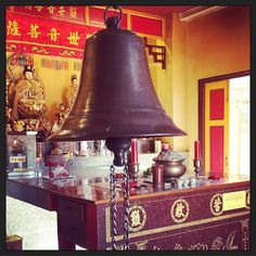 Ring the bell in a Chinese Shrine