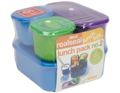 Realseal™ Lunch pack no. 2, 5 piece Different size lunchboxes can be combined with other items to pack up neatly into cooler bag - and they're all wrapper free.    Regular Price: Rs1,025.00  Special Price: Rs513.00
