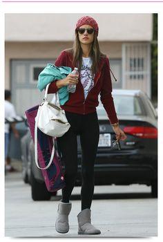Brazilian model, Alessandra Ambrosio wearing Tom Ford sunglasses