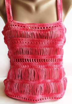 This is an exquisite hairpin lace top the perfect addition to your warm weather wardrobe! Masterfully crafted using a technique called Hairpin lace the result is this beaut... #crochet #scarf